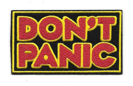 Hitchhikers Guide To The Galaxy Don't Panic Logo Embroidered Patch NEW U... - $7.84