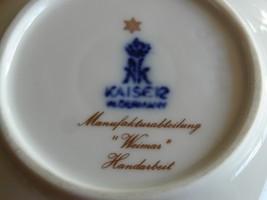 Kaiser W.Germany Blue Gold Lattice Trinket Ring Jewelry Candy Dish Weima... - $19.99
