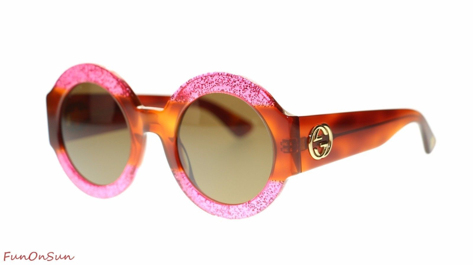 6a358364bcc44 Gucci Women Round Sunglasses GG0084S 003 and 50 similar items. S l1600