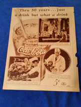 1936 Original Coca Cola Magazine ad What a Drink Diner - $28.45