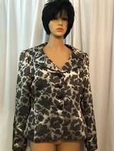 tahari arthur s levine Gold And Blackish Gray Blazer Jacket Womens Size 14 - $15.00
