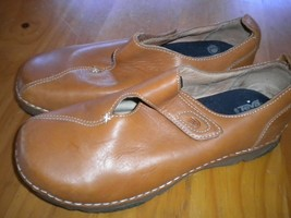 Teva Size 9 (European 40) Golden Brown Adjustable Strap Leather Women Shoes - $29.69
