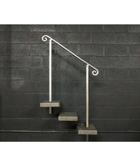 3 Foot Aluminum Stair Railing Handrail | In-Ground Posts | Aluminum Grab... - $180.00