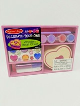 Melissa & Doug Decorate Your Own Wooden Heart Chest Kid Crafts Play New In Box - $14.01