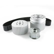 Chevy Small Block SBC Long Water Pump Gilmer Style Pulley Kit (SILVER)