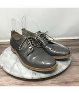 AGL Attilio Giusti Leombruni Sz 37/6.5 Gray Patent Leather Double Sole O... - $49.95