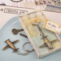 60 Travel Airplane Key Chain Wedding Bridal Baby Shower Birthday Party F... - $65.00