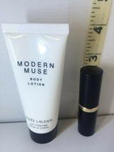 lot of 2 Estee Lauder  Modern Muse body lotion + Pure color 48 Hot Kiss ... - $28.22