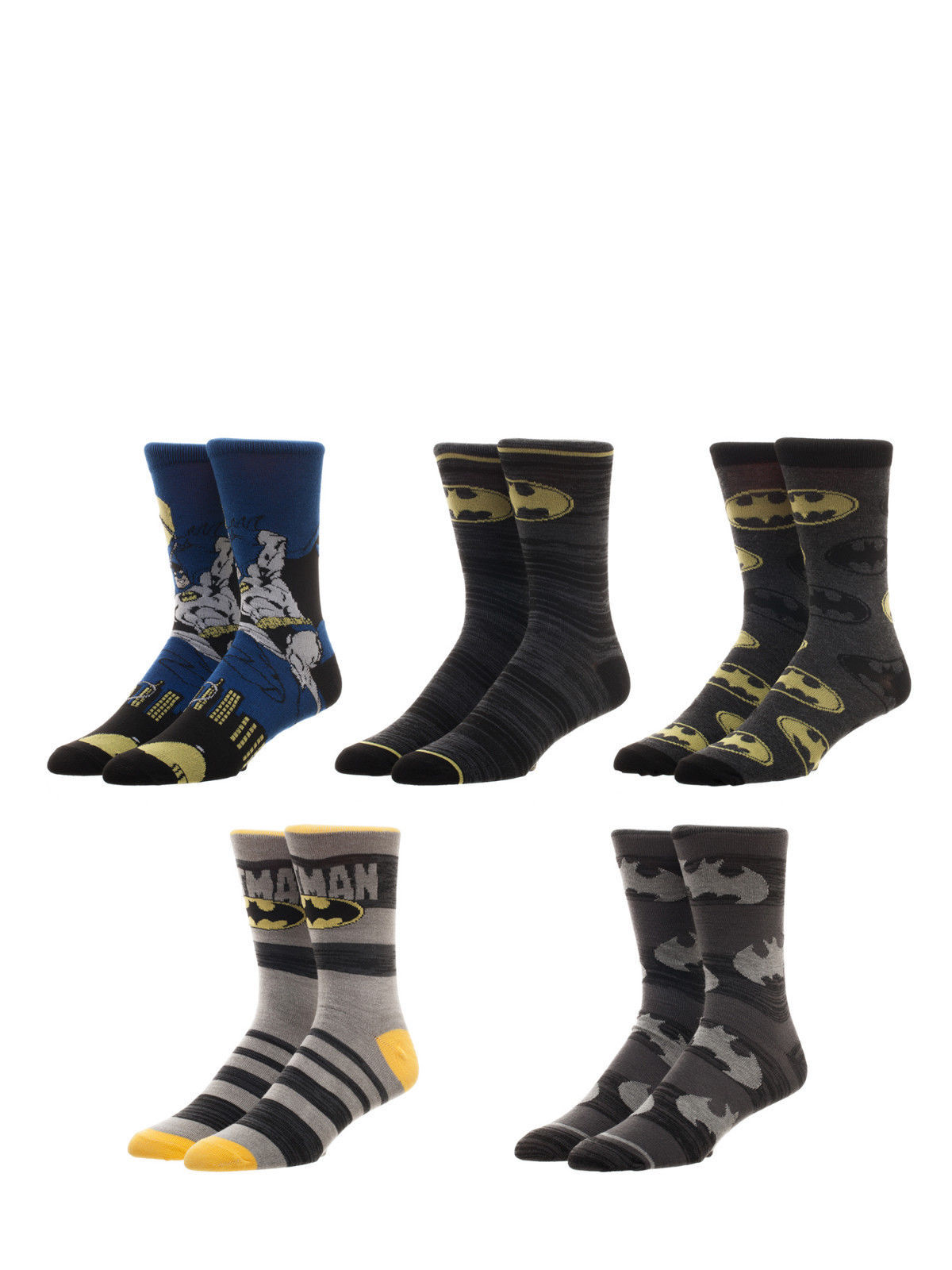 40df02695f45 Batman Dc Comics 5 Pack Casual Crew Socks and 50 similar items. 57