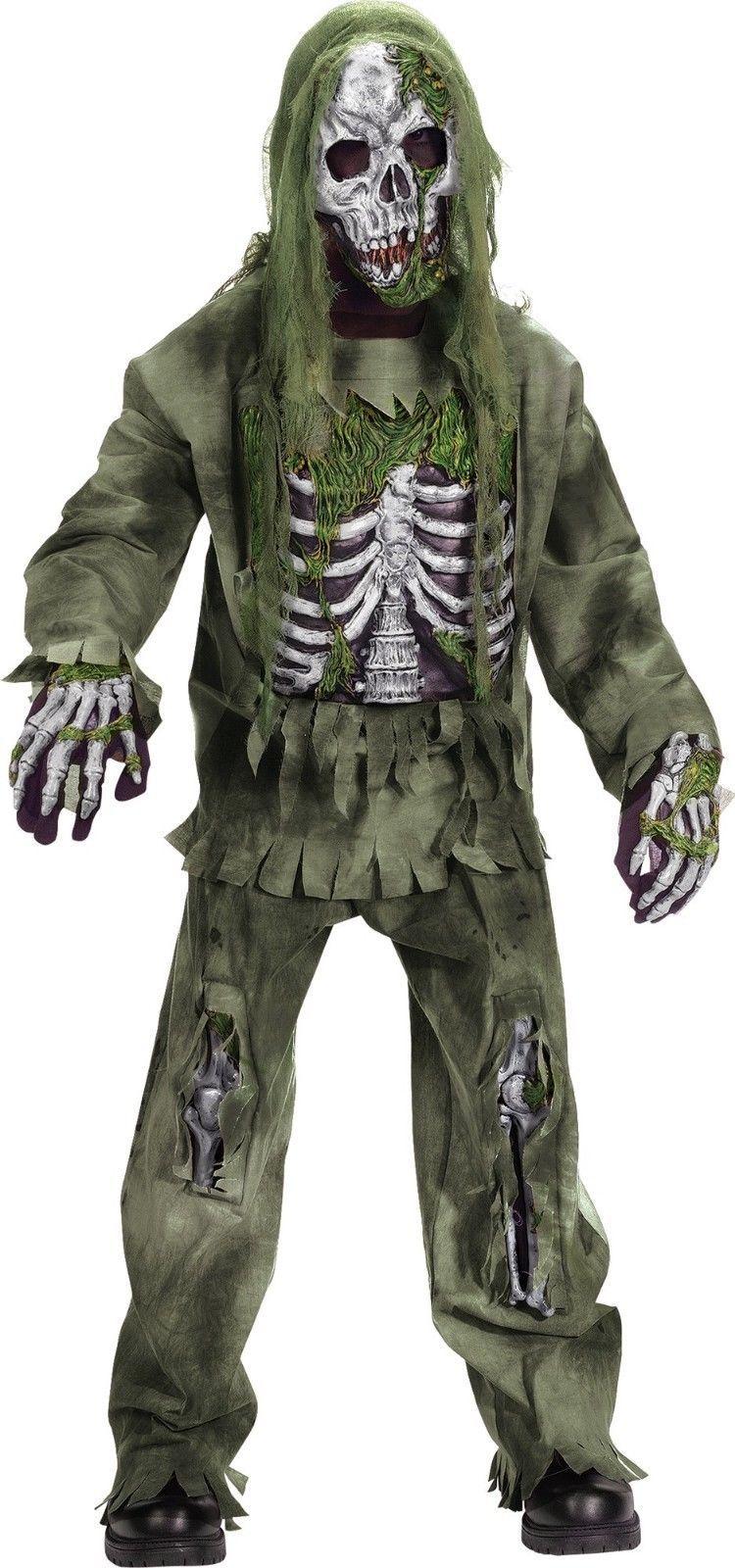 Fun World Skeleton Zombie Horror Undead Child Boys Halloween Costume 5919