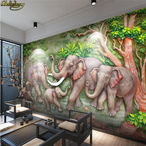 beibehang Custom Retro elephant 3D Photo Wallpaper Living Room Wall paper - $35.95