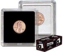 BCW 1 X 2x2 Coin Snap Holder Penny 19mm Bundle of 25 - $10.02