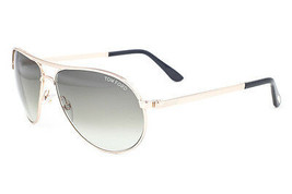 Tom Ford Marko Shiny Gold / Green Gradient Sunglasses TF144 28P - $224.42