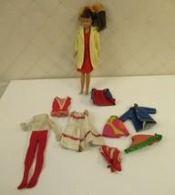 Skipper Doll 1963 Straight Leg Brunette Clothes VTG Dress Coat Swimsuit ... - $62.88