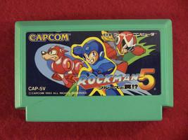 Rockman / Megaman 5 (Nintendo Famicom FC NES, 1992) Japan Import - $18.52
