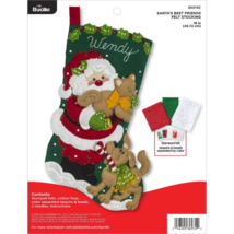 Bucilla-'Santa's Best Friend'- Felt Christmas Stocking Stitchery Kit-86974E - $36.99