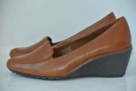 NEW Rockport Dynamic Suspension Womens Sz 8.5 M Brown Leather Wedge Heels - $28.70