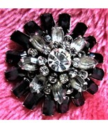 Black and Clear Dahlia  Lapel Pin - $10.00