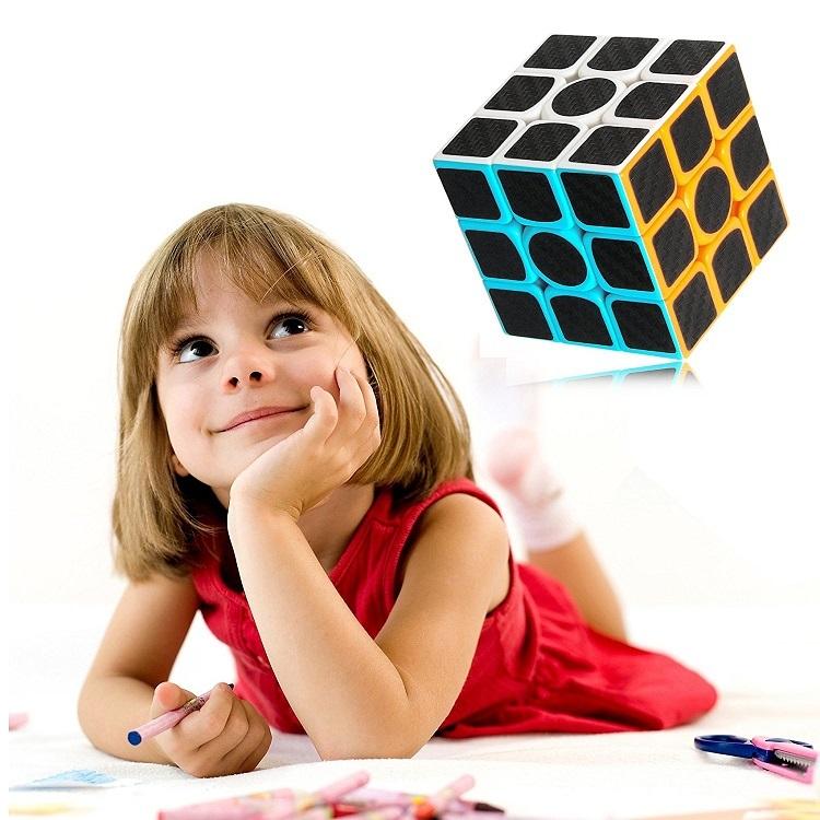 """Carbon Fiber Sticker Speed 3x3x3 Magic Magico Rubik""""s Cube Fidget Cube Magico E"""