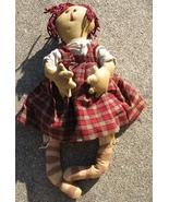 Primitive Decor   91379PRCD- Primitive Red Check Doll - $12.95
