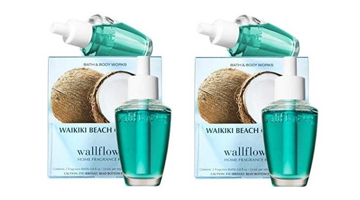 4 Bath & Body Works Waikiki Beach Coconut Wallflower Home Fragrance Refill Bulbs