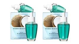 4 Bath & Body Works Waikiki Beach Coconut Wallflower Home Fragrance Refill Bulbs - $23.50