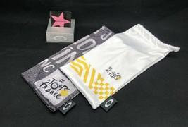 Oakley Large Microfiber Cloth Cleaning Bags Le Tour De France Authentic Lot Of 2 - $28.99