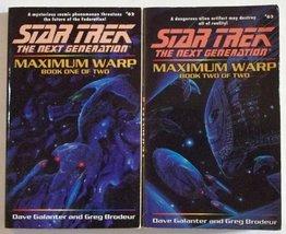 Star Trek The Next Generation: Maximum Warp Books 1 & 2 [Mass Market Pap... - $15.00