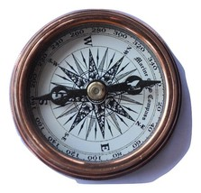 Hindon collectibles Polished Brass Poem Compass Nautical Decor - $39.39