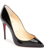 Christian Louboutin PIGALLE  Pumps Shoes 36.5 Black Patent Leather - $399.99