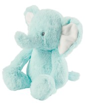 "NWT Carters Plush Toy Stuffed Animal Green Baby Elephant 8"" Jungle Safari Wild  - $21.85"