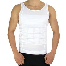Bodywear Men's Body Shaper Slimming Compression Shirt (md, white) - $13.99