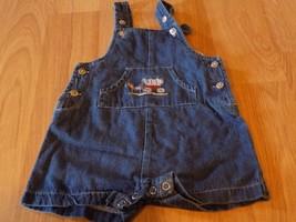 Infant Size 3-6 Months Cherokee Baby Denim Blue Shortalls Horse & Covere... - $12.00
