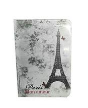 "Eiffel Tower Passport Holder Retro Flower PVC Leather Passport Cover 53.5"""