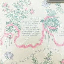 Vintage Wrapping Paper Bridal Shower Herbs Carlton Cards 20x30 Sheet Gif... - $9.11