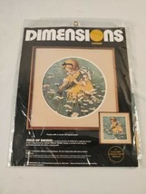 Vintage Dimensions Crewel Field Of Daisies 1987 Embroidery Kit 1327 Seal... - $18.70