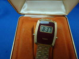 Vintage 1970'S Timex Lcd Watch In Box. Runs With Original Warranty - $145.00