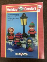 Vtg 1992 Christmas Doll Patterns Holiday Carolers Crochet Pattern Booklet - $9.89