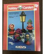 Vtg 1992 Christmas Doll Patterns Holiday Carolers Crochet Pattern Booklet - $9.89