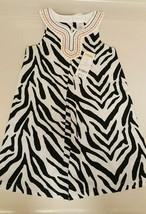 Nwt Gymboree Toddler Girls Dress 4 yrs Wild Zebra Print black/white embroidered - $13.85