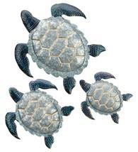Regal Art & Gift 3 Piece Painted Galvanized Metal Sea Turtle Wall Decor Set - $69.29