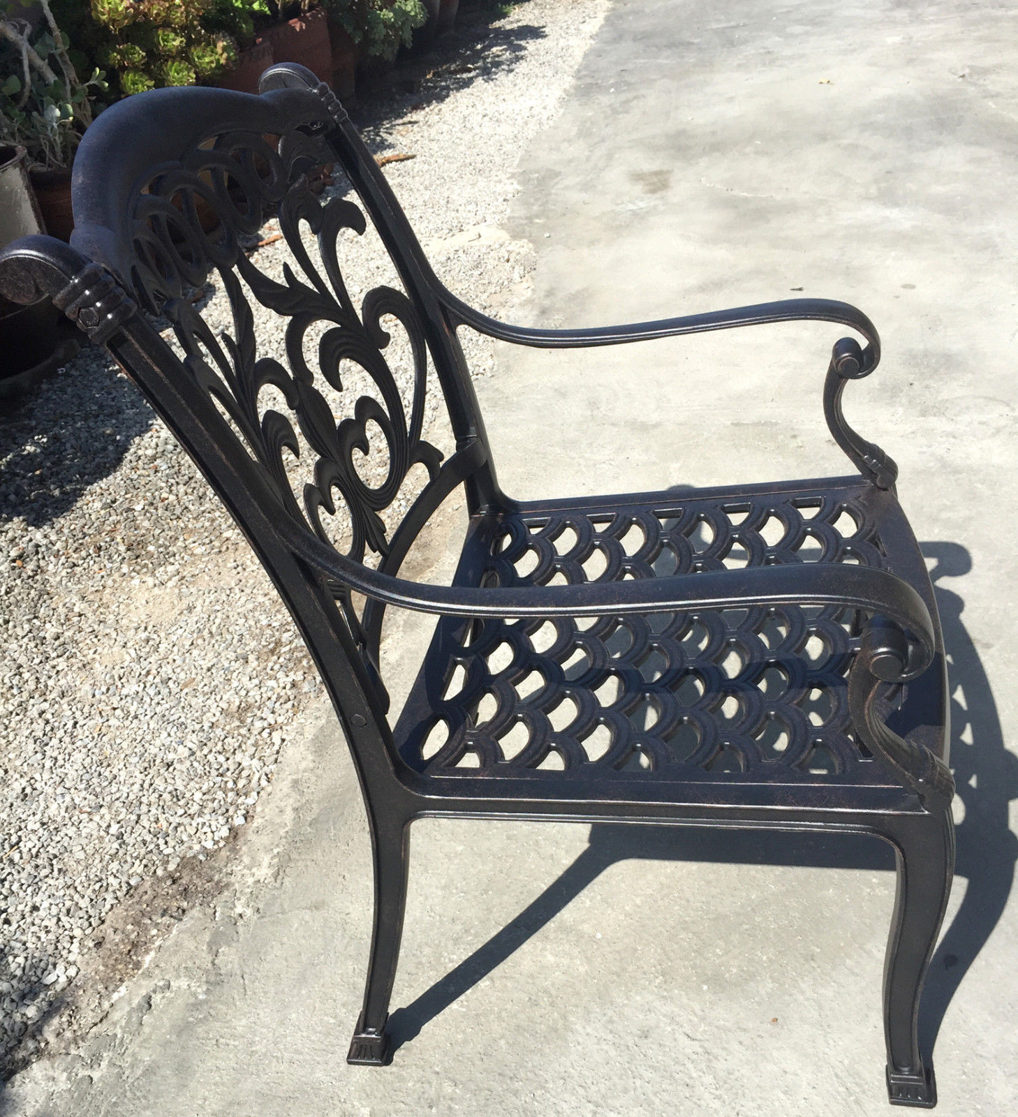 Patio Chair Cast Aluminum Flamingo Furniture All Weather