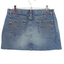 American Eagle Womens Jean Mini Skirt Size 10 Frayed Raw Hem Distressed - $21.08