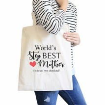 World's Best Stepmother Unique Design Canvas Bag Gifts For Stepmoms - $16.45