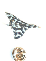 vulcan british bomber tie pin, Lapel Pin Badge, in gift box silver plated