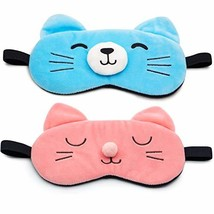 Sleep Mask Cute Eye Mask with Gel pad, Hot & Cold Therapy for Insomnia P... - $13.68