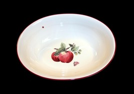 """Pfatzgraff DELICIOUS Apples Lady Bug Butterfly 11-3/4"""" Hvy Oval Serving Bowl NEW - $24.99"""