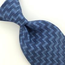 VAN HEUSEN SKY/BLUE MICRO DOTS Zigzag Wave WOVEN Silk Neck Tie H1-390 Ex... - $15.83