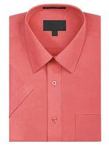 Men's Solid Color Regular Fit Button Up Premium Short Sleeve Dress Shirt image 11