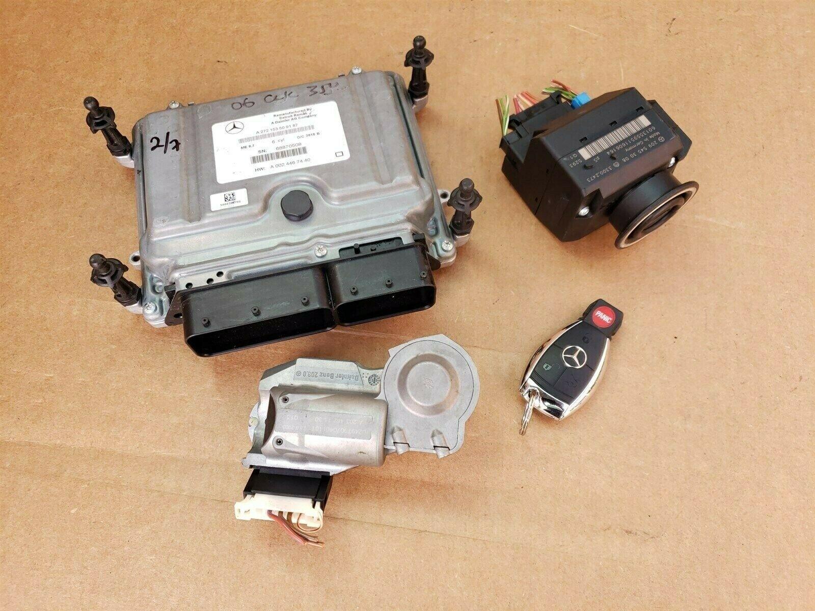 06 Mercedes CLK350 E350 Engine Computer Ignition Switch FOB ECU EIS ISL Set